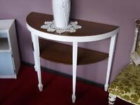 20% OFF ALL ITEMS SALE - Stunning Painted & Waxed Half Moon Table By The RGF