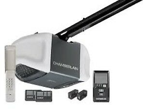 Garage Door opener: Chamberlain; myQ; 1/2hp belt: installed $309
