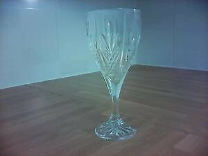 6 Cut Glass Wine Glasses