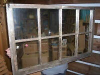 Salvaged Window Frame With 8 Mirrors