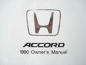 1990 honda accord user manual