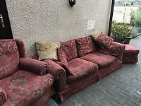 Sofa, Chair and Foot Stool
