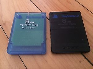 PS2 Memory Cards / Cartes Memoire Playstation 2