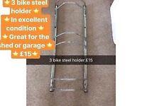 3 steel bike holder