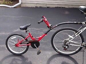 Schwinn kids tandem or buddy bike. Runabout, tag-a-long.