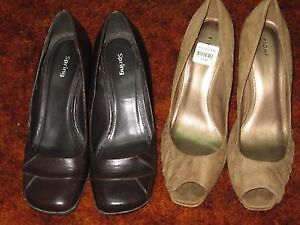 2 prs of Heels (Spring and Payless) in Size 9.5