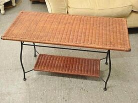 SALE NOW ON!! Wicker Coffee Table - Can Deliver For £19