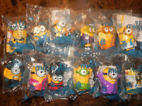 Mcdonalds Minions Full Set of 12 Happy Toys McDonald's 2015