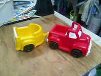 camion rouge et remorque jaune Fisher Price