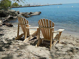 Muskoka Chairs and Furniture: Amish made in White Cedar