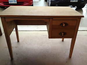 Antique Solid Tiger Oak Writing Desk
