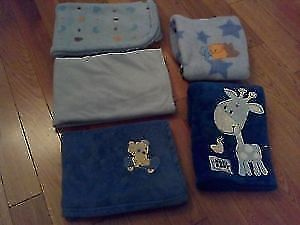 Fleecy Soft Blankets (Boy) -x8- **Great Condition & Quality!**