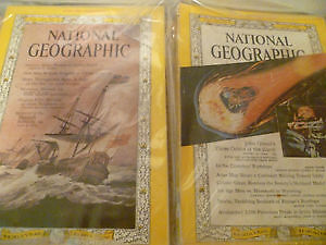 4 Vintage National Geographic Magazines