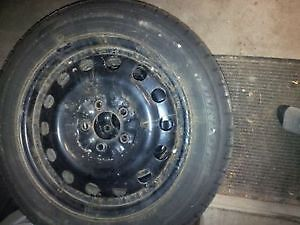snow tires on steel rims - came off of a toyota Cambridge Kitchener Area image 2