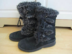 Lovely and warm suede and faux fur boots size 6