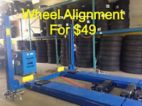 THIS WEEK SPECIAL! 4 WHEEL GERMAN EQUIPMENT ALIGNMENT FROM $49