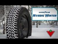 4 X 215/70R15 Goodyear Nordic Winter BRAND NEW / NEUFS