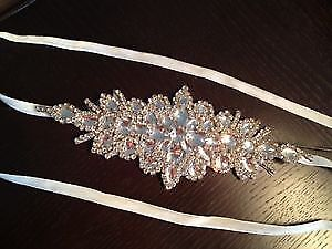 Stunning Wedding Sash - Belt With Beautiful Details and SPARKLE
