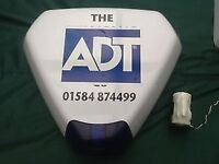 Alarm box with internal flasher and with ADT logo