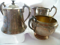 Vintage Creamer Set with Candle Holder