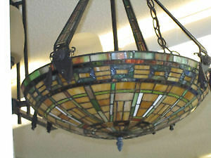 Stained Glass & Leaded Ceiling Light