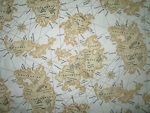 Map fabric ebay vintage map fabrics gumiabroncs Images