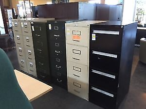Used 4 Drawer Vertical Filing Cabinets - Misc. $99.00 Each