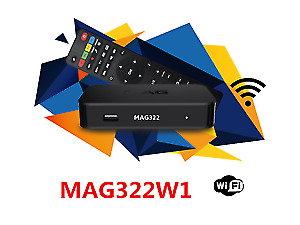 MAG 322W1 BUILT IN WIFI & MAG 254 WITH 1 MONTH IPTV SERVICE