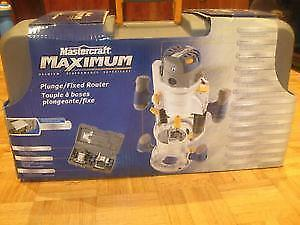 (NEW) Mastercraft MAXIMUM Fixed/Plunge Router 11A / 2 HP