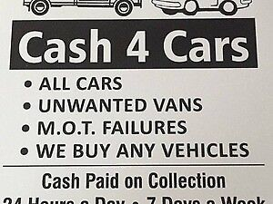 CARS WANTED CASH PAID WE BUY ANY CAR INSTANT PAYMENT UP TO £500