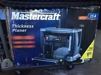 "Lightly used Mastercraft 12.5"" thickness planer on stand DELIVER"