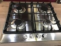 Bosch brushed steel gas hob