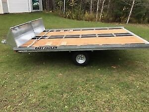 Easy Hauler 12' Double Galvanized Snowmobile Trailers Coming Oct
