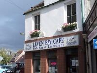 Cafe/Takeaway Fish & Chips with spacious Holiday Flat above in Fife Coastal Town - for Lease