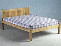 Mexican Pine Double Bed 4ft6