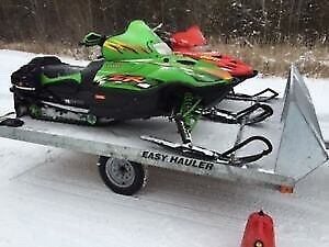 Easy Hauler 10 and 12ft Galvanized Double Snowmobile Coming Soon