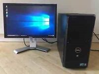 Dell vostro desktop, dell monitor, keyboard an mouse