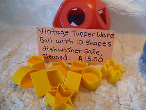 Vintage Tupper Ware Ball with 10 Shapes