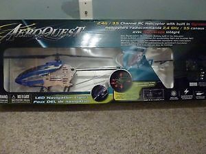 2 AEROQUEST RC Helicopters (1 new/ 1 parts)