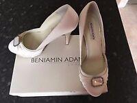 Brand New Designer Wedding Shoes - Benjamin Adams Portia, Ivory, Size 4
