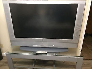 "50"" Sony LCD Screen TV & Glass Stand"