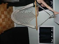 Chaise hamac en corde