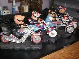 4 X SUPERB MOTORBIKE ORNAMENTS -(LIMITED EDITIONS) TERRIFIC