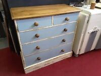 20% OFF ALL ITEMS SALE - Heavily Distressed Chest Of Drawers - Painted By The RGFs Restoration Team