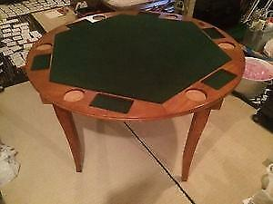 Poker Table Solid Wood 6 person Sport craft