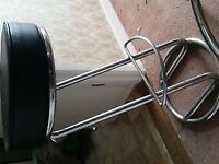X2 Black & Chrome Kitchen/Bar Stools