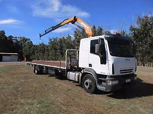 TRUCK + Hiab crane with DRIVER FOR HIRE