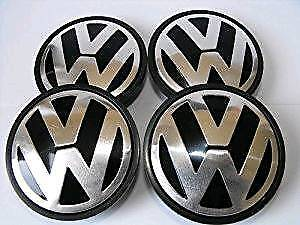 Volkswagen wheel center caps 55mm set of 4