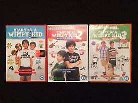 diary of the wimpy kid 1,2,3 dvds
