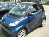 2008 Smart Fortwo bleu Coupé (2 portes)